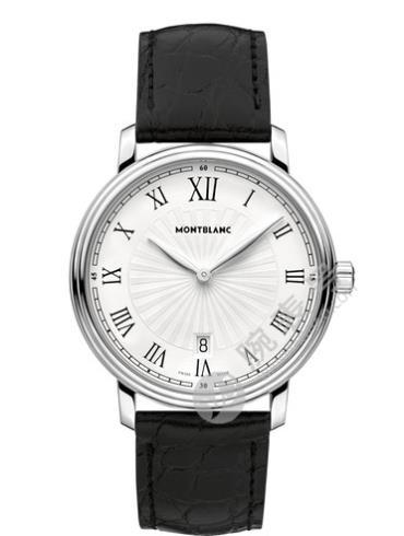 万宝龙传统系列日期腕表112633白色表盘