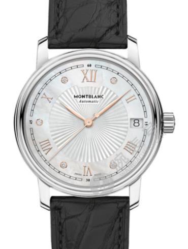 万宝龙传统系列日期自动腕表U0114957白色表盘