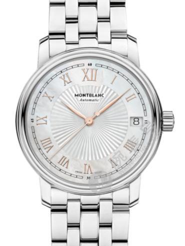 万宝龙传统系列日期自动上链腕表U0114367银色表带