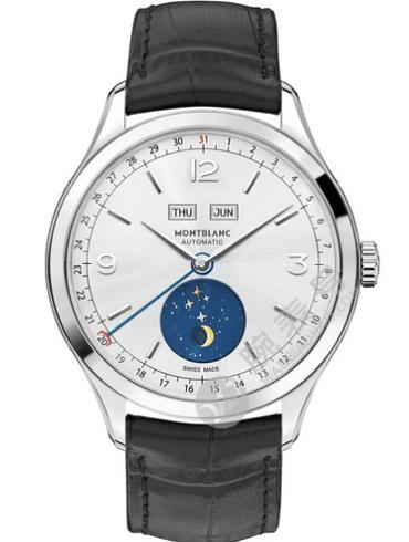 万宝龙传承Chronométrie系列全日历U0112539银白色表底盖