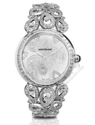 万宝龙摩纳哥王妃系列107934银色表带