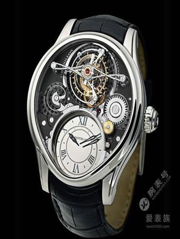 万宝龙维莱尔1858系列Villeret 1858双圆筒摆轮游丝陀飞轮腕表-铂金款