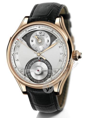 万宝龙维莱尔1858系列迭变II腕表112442银白色表盘