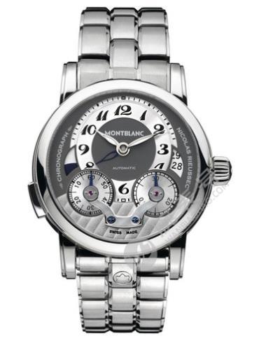 万宝龙尼古拉斯凯世系列102336银色表带
