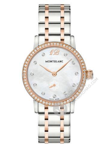 万宝龙明星经典系列U0110643白色珍珠母贝表盘