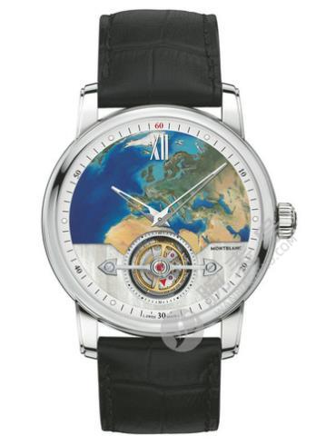 万宝龙明星4810系列115072外置陀飞轮超薄腕表110周年纪念款欧洲限量款