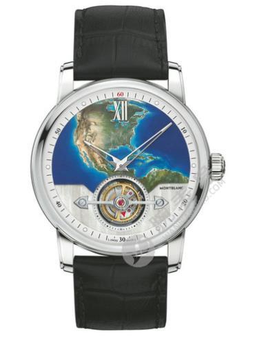万宝龙明星4810系列115125外置陀飞轮超薄腕表110周年纪念款北美洲限量款