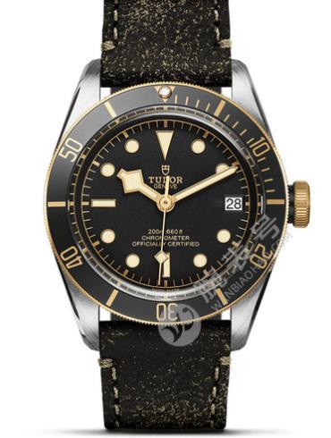 帝舵碧湾黄金钢型79733n-0001黑色表带