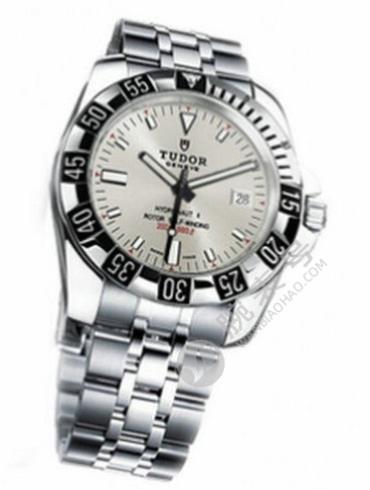 帝舵海洋王子系列20040-93570灰色银色表带