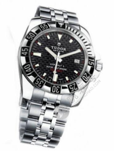 帝舵海洋王子系列20040-93570黑色银色表带