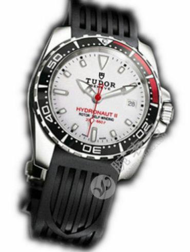 帝舵Grantour系列20060b-rs白色橡胶表链白色表盘