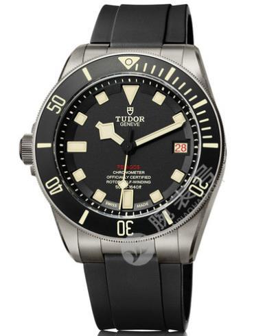 帝舵领潜型LHD专业潜水腕表25610TNL黑色表盘