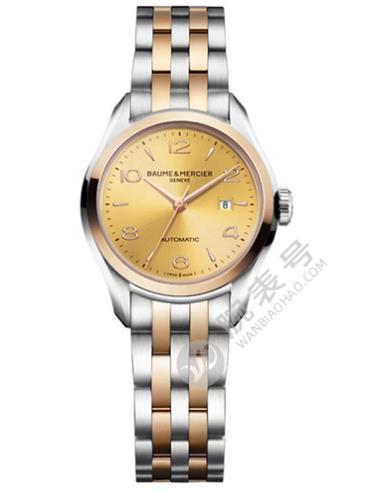 名士克里顿系列情侣表女款10351金色表盘