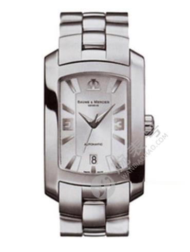 名士Hampton系列08443银灰色表带