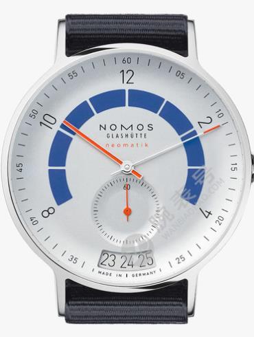 NOMOS-Autobahn neomatik 41 date sports gray1303腕表白色表底盖