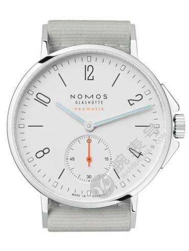 NOMOS-Ahoi neomatik560腕表浅白色表带