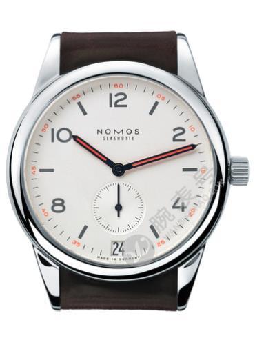 NOMOS-Club date731腕表白色表底盖