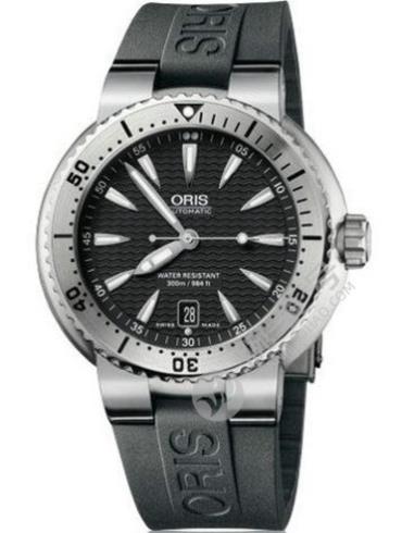 豪利时潜水系列01 733 7533 4154-07 4 24 34EB黑色表盘