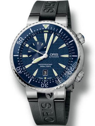 豪利时精钢表扣潜水系列0164376098555-0742434EB黑色表壳