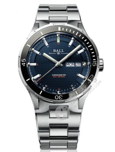 波尔精钢表扣宝马系列Timetrekker DM3010B-SCJ-BE银色表底盖