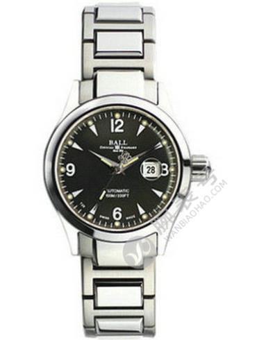 波尔工程师升级系列俄亥俄女工程师NL1026C-SJ-BK黑盘精钢表链