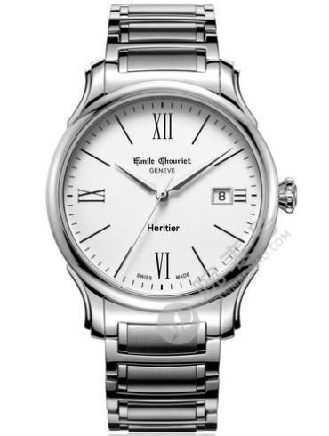 艾米龙Héritier传承系列08.1128.G.6.2.28.6银色表底盖