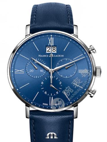 艾美Eliros系列日期腕表EL1088-SS001-410蓝色表盘