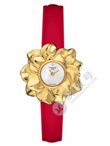 天梭T-Gold睡莲系列T71.3.145.76白色表盘