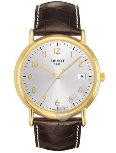 天梭T907.410.16.032.00 T-Gold黄金河系列 表带材质皮带