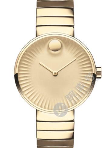 摩凡陀瑞界系列女士不锈钢腕表3680014金色表盘