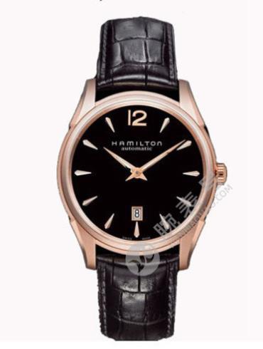 汉米尔顿美国经典爵士Slim系列H38645735黑色表盘