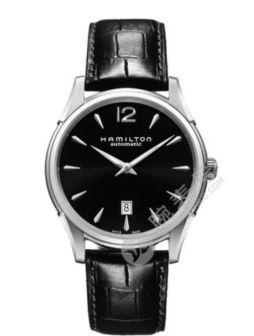 汉米尔顿美国经典爵士Slim系列H38615735黑色表盘