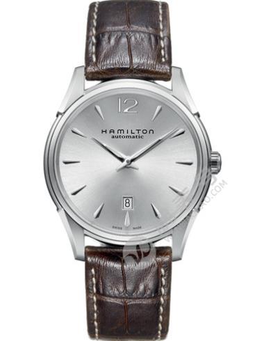 汉米尔顿美国经典爵士Slim系列H38615555银色表盘