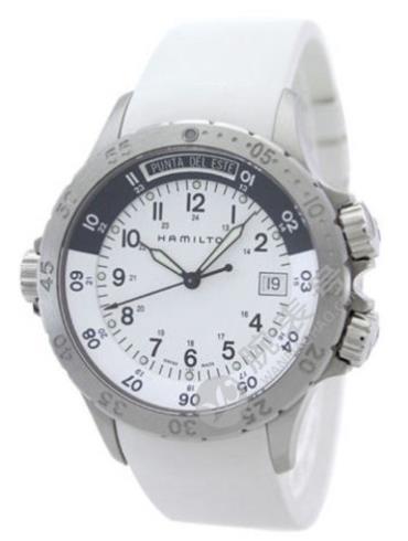 汉米尔顿卡其海军系列H74551913精钢表扣