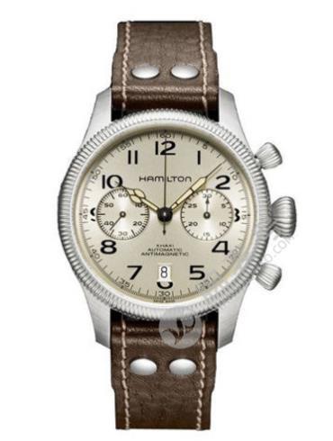 汉米尔顿卡其野战保护国际自动计时系列H60416553棕色表带