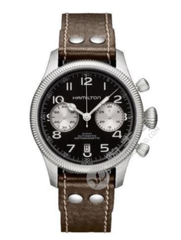 汉米尔顿卡其野战自动计时自动计时系列H60416533棕色表带
