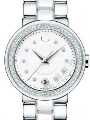 摩凡陀赛蕾娜系列0606625银色表带