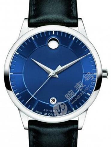 摩凡陀瑞动系列0606874蓝色表盘男士石英手表