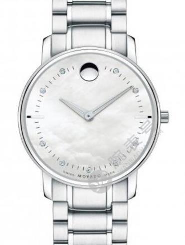 摩凡陀TC超薄系列0606691银色表带石英女士手表
