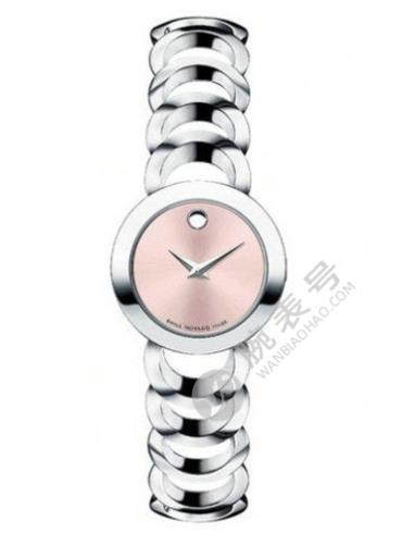 摩凡陀月熊系列0606418粉红色表盘石英女士手表