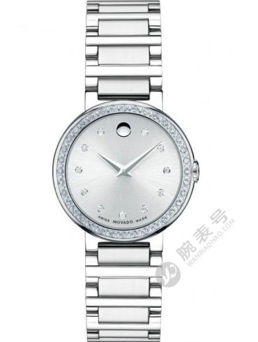 摩凡陀协奏曲系列0606793银色表盘石英女士腕表