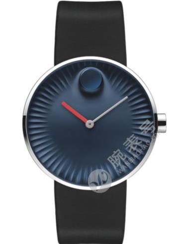 摩凡陀瑞界系列男士不锈钢腕表3680004蓝色表盘