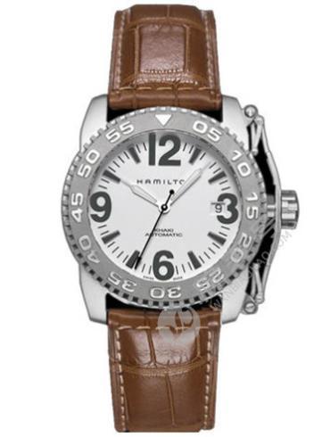 汉米尔顿卡其ACTION行动系列H62465515精钢表扣