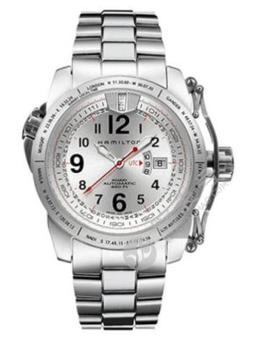 汉米尔顿卡其ACTION行动系列H2555153银色表带
