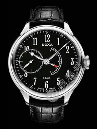 Doxa时度八日链腕表系列125.10.105PR.01男表黑色表带