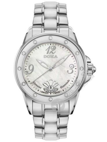 时度深海瑰宝系列D199SMW女表银色表带