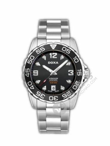 时度潜水200系列D113SBK银色表带