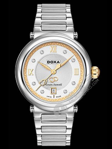 Doxa时度卡莱斯心悦系列D170TWH女表银色表带