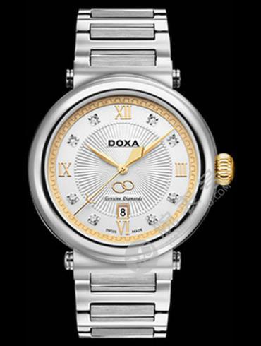 Doxa时度卡莱斯心悦系列D169TWH男表银色表带