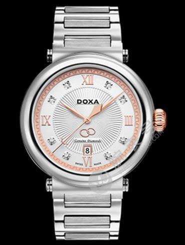 Doxa时度卡莱斯心悦系列D169RWH银色表盘